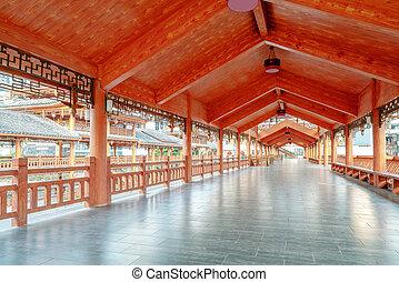 guizhou, duyun, china., puente, características, étnico