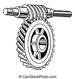 gusano, mecanismo, engranaje