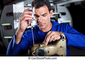 hábil, mecánico, reparación
