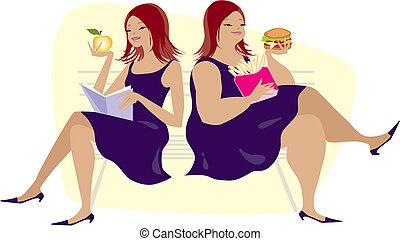 hábitos, comida