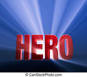 héroe, negrita