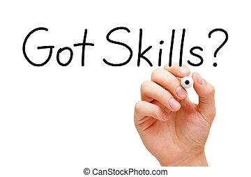 habilidades, obtenido, escritura