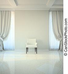 Habitación clásica con silla