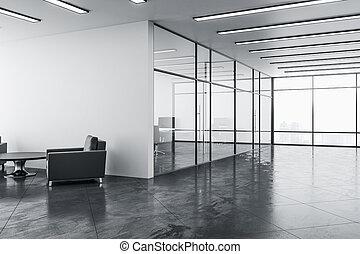 habitación, contemporáneo, sillas, dos, esperar
