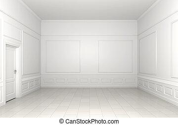 habitación vacía, blanco