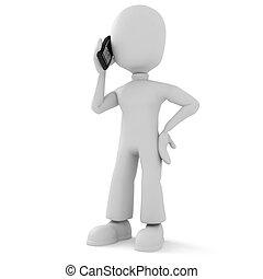 Habla el tercer hombre por teléfono