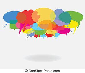 Habla y habla burbujas