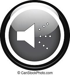 Hablador en botón negro