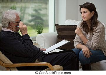 Hablando con un psicólogo