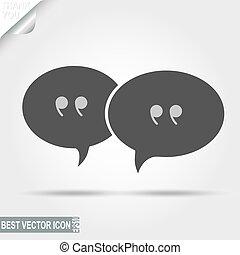 Hablando, mensajes, pictografía de discusión, icono de chat - vector Ilu
