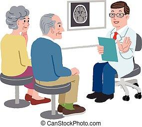 hablar, el suyo, paciente, médico de cabecera
