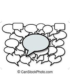Hablar en los discursos burbujea a los medios sociales