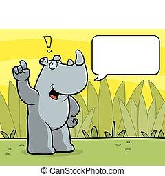 hablar, rinoceronte