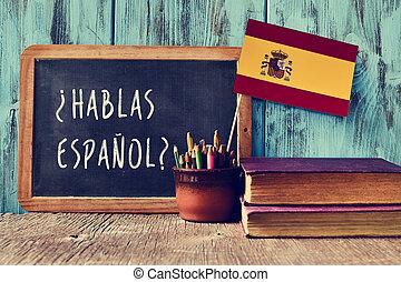 ¿Hablas español? ¿Hablas español?
