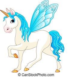 Hada cola de caballo azul