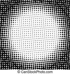 halftone, puntos, vector