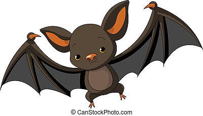 halloween, vuelo, murciélago