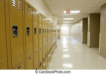 Hallway en la secundaria