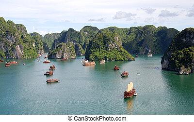 halong, vietnam, bahía