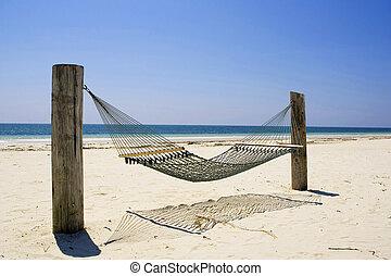 hamaca, bahama, magnífico, isla
