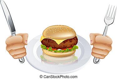Hambre de hamburguesa