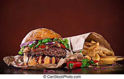hamburguesa, delicioso