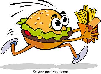 hamburguesa, papa