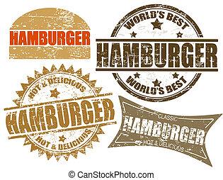 hamburguesa, sellos
