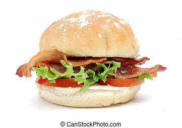 hamburguesa, tocino