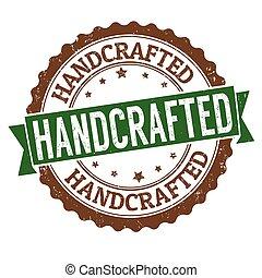 handcrafted, estampilla, caucho, grunge