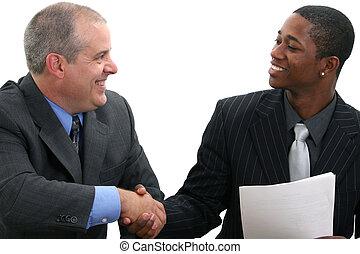 handshak, hombres de negocios