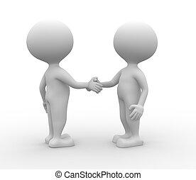 handshake., -, sociedad