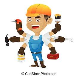 Handyman tiene múltiples herramientas