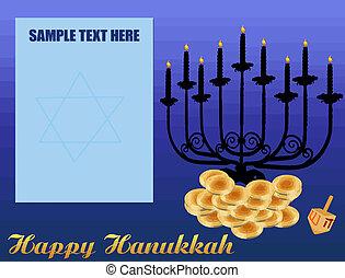 hanukkah/chanukah, plano de fondo, feliz