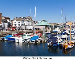 Harbour en el plymouth barbicano