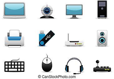 hardware, iconos de computadora