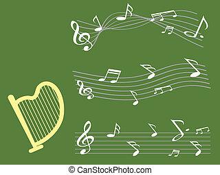 Harp con antecedentes musicales