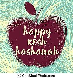 hashanah, manzana, rosh