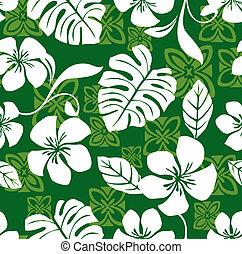 hawaiano, patrón, aloha, viernes, camisa
