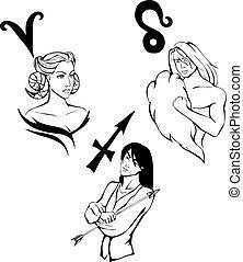 Hay 3 señales de zodiaco