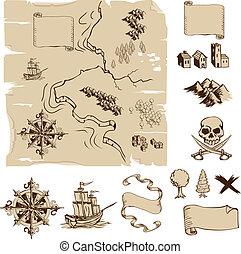 Haz tu propia fantasía o mapas del tesoro