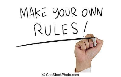 Haz tus propias reglas, tipografía conceptual