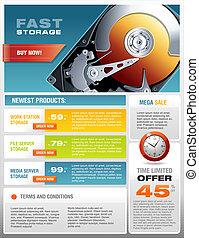 HD disco duro venta de folletos promocionales