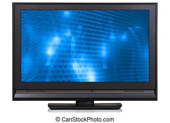 hd, televisión, lcd