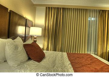 HDR de la habitación del hotel
