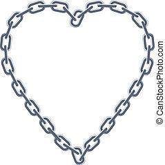 heart., cadena de plata