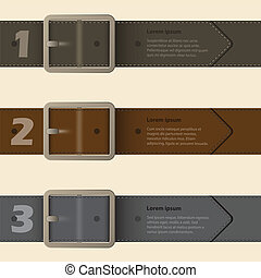Hebilla de cinturón diseño infgráfico