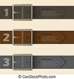 hebilla, infographic, diseño, cinturón