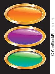 Hebillas brillantes de color