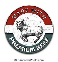 hecho, carne de vaca, prima